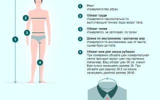 Таблица размеров bonprix