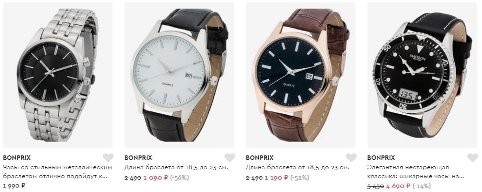 Все модели мужских часов Бонприкс