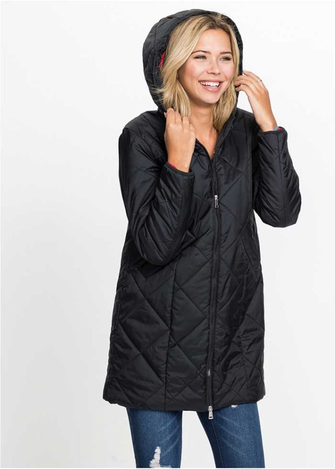 Черная-стеганая-куртка-Бонприкс-вид-спереди