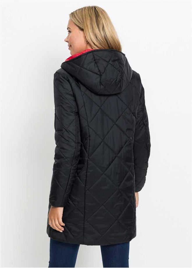 Черная-стеганая-куртка-Бонприкс-вид-сзади