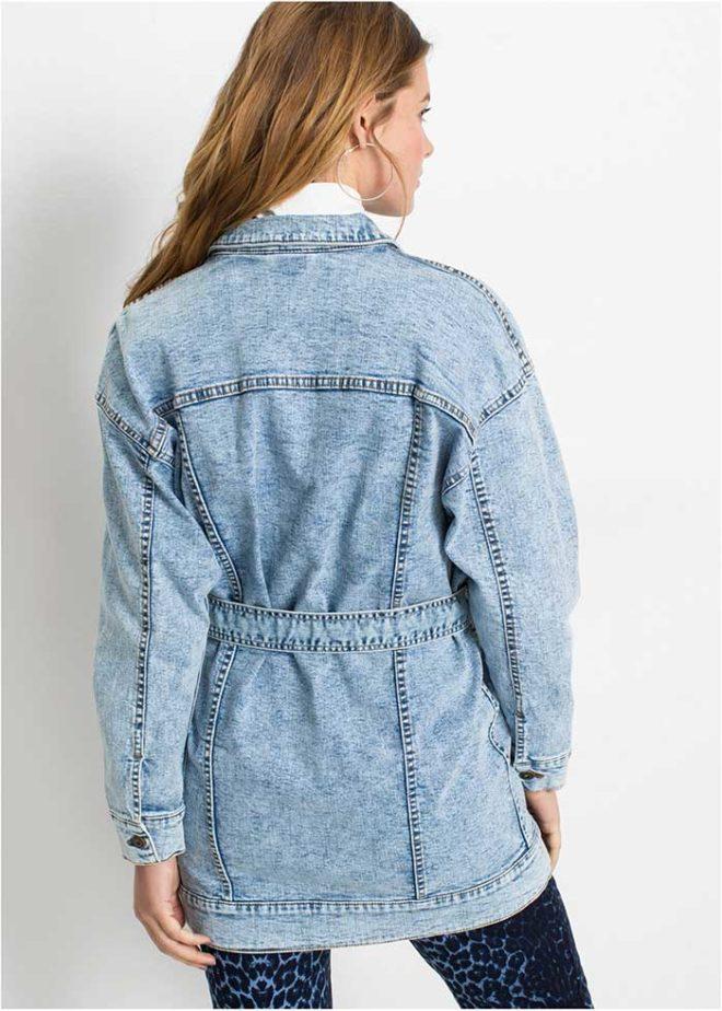 Джинсовая куртка Бонприкс оверсайз вид сзади