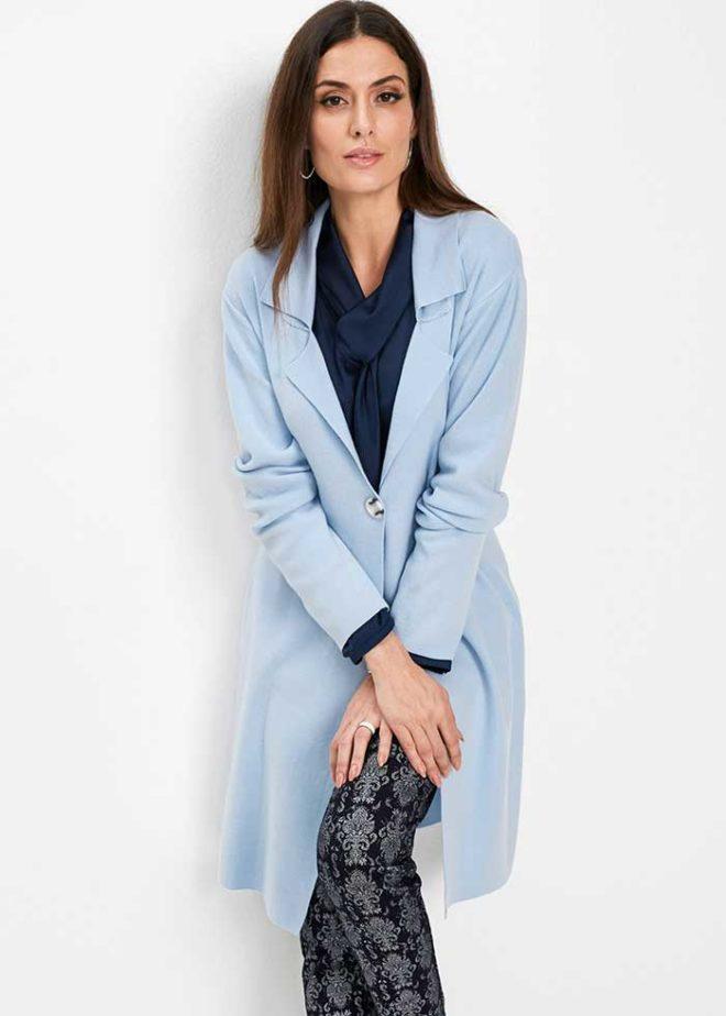 Голубое пальто Бонприкс