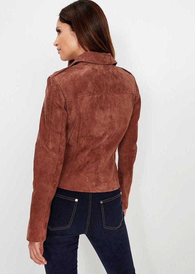 Куртка bonprix из натуральной кожи