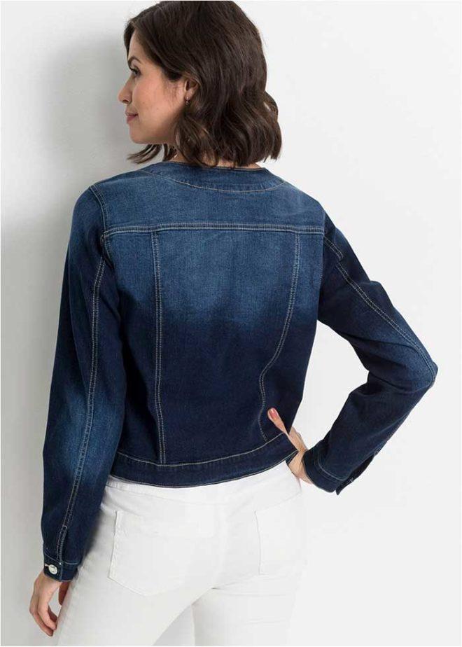 Куртка джинсовая Бонприкс со стразами фото сзади