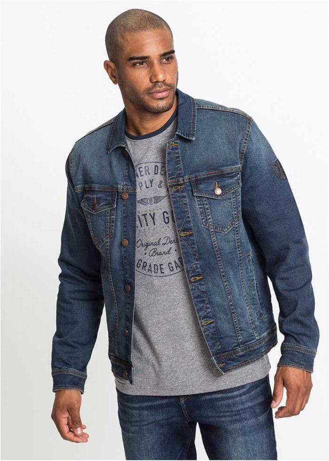 Мужская джинсовая куртка Бонприкс из денима