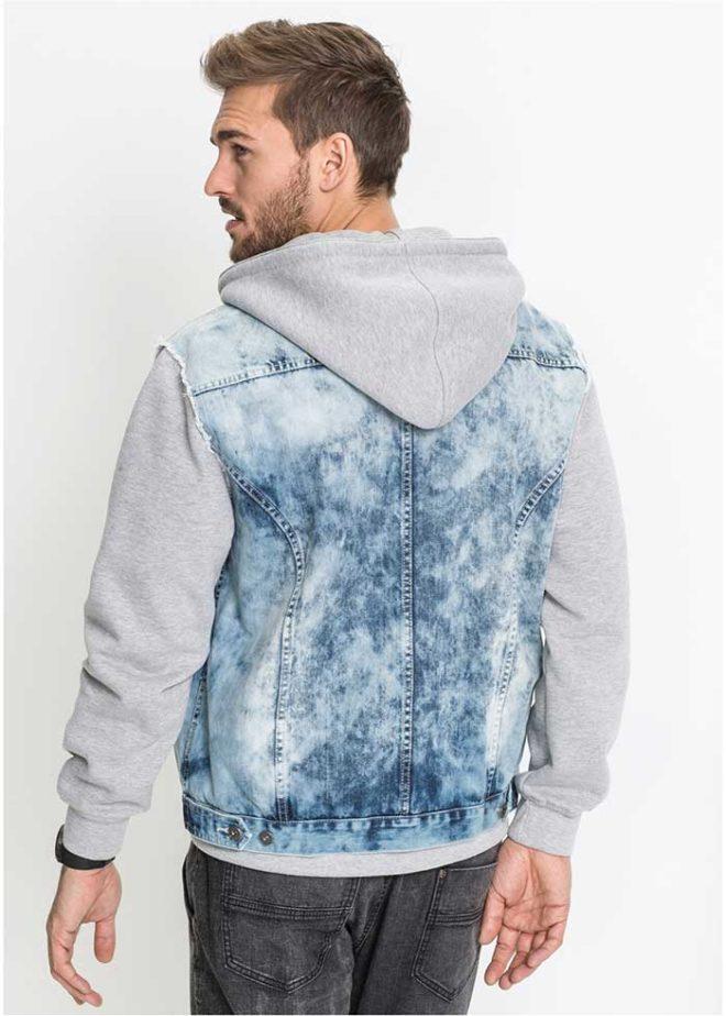 Полуджинсовая мужская куртка Bonprix