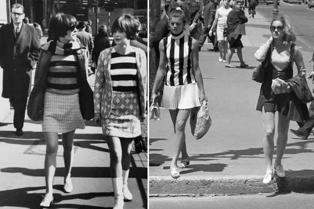 В каких годах главным трендом была мини-юбка