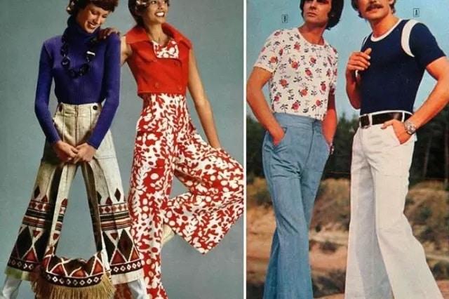 В каком десятилетии были очень популярны штаны-клёши